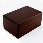 rosewood finish urn